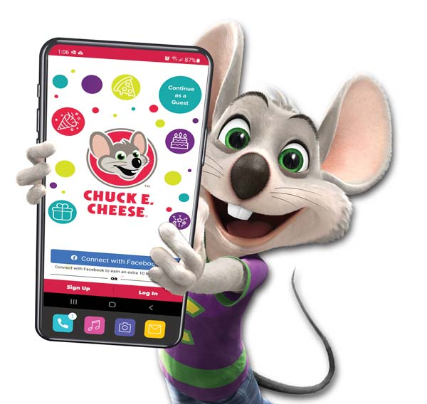 Earn Rewards Today with the Chuck E Cheese App