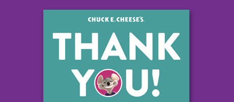 A preview of the thank you card for gifts